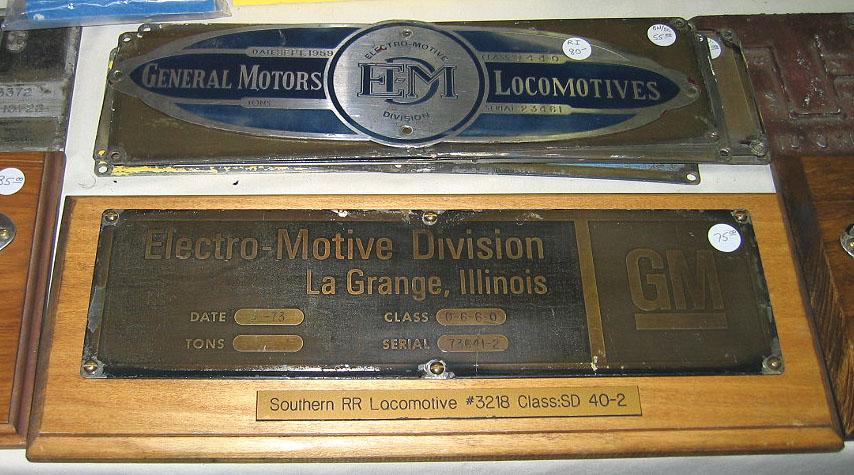 Builders 39 plates railroadiana online for Electro motive division of general motors