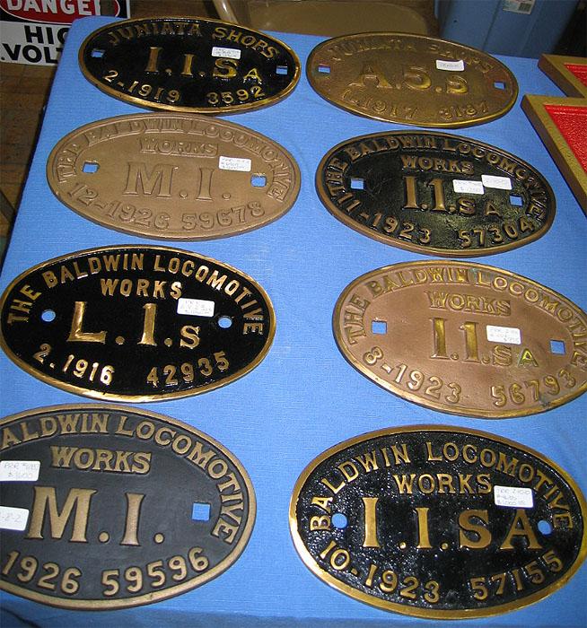 Builders' Plates - Railroadiana Online