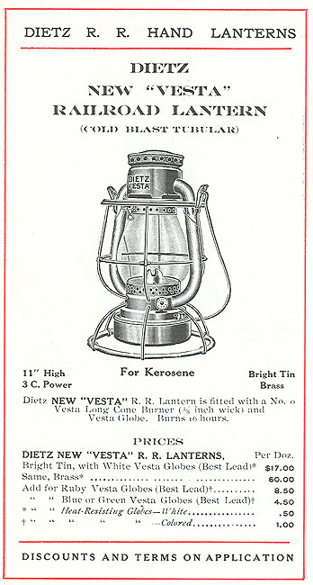 1909 Dietz Catalog Pages Railroadiana Online
